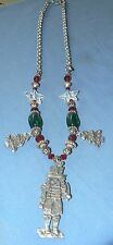 MARCIE Pewter Holiday Christmas Theme NECKLACE - SALE - SALE - SALE