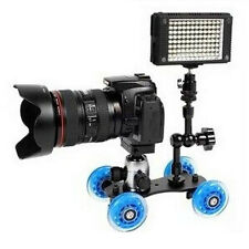 Rail Rolling Track Slider Skater Table Dolly Car 4-Wheel For DSLR Camera