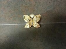 """Vintage 1975 MiMi Di N Signed Gold Colored Butterfly Belt Buckle 2"""""""