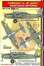 KORA Decals 1/72 KAWASAKI Ki-32 MARY MANCHUKUO AIR FORCE