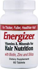 Energizer Vitamins and Minerals for Hair Nutrition, Hobe Laboratories, 60 tablet