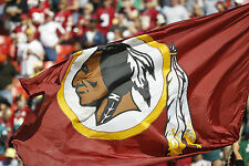 NFL Washington Redskins Logo Flag A4 260GSM Poster