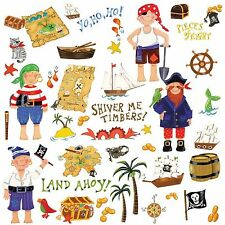 Pirate / Pirates for Boys Peel & Stick Room Appliques RMK1195SCS