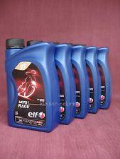 5x1 Litro ELF MOTO 2 Raza totalmente sintético 2T- Aceite mezcla/