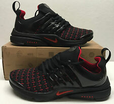 NIKE AIR PRESTO SIZE 7 BLACK / RED TRAINERS SHOX SHOES