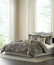 NEW ECHO DESIGN CARAVAN TWIN 3 PIECE COMFORTER SET WITH SHAM & BEDSKIRT ONYX