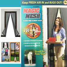 Hand-Free Magic Mesh Screen Door Net Curtain Magnetic Fastening Insects Stopper