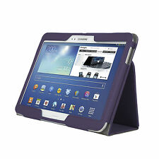 "Samsung Galaxy Tab 3 GT-P5210 Book Case Cover 10.1"" PU Leather Stand Folio PLUM"