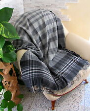Wollplaid, Tagesdecke, Sofadecke 135x180 cm 100% Wolle