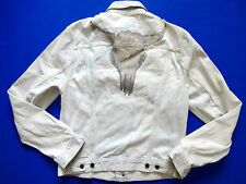New Ralph Lauren Denim & Supply Distressed 100% Cotton Sun Bleached Jacket sz M