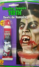 Brand New Bleeding Vampire Teeth With Fake Blood Rubies 19641