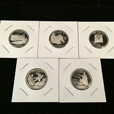 Complete 2008 S Mint 90% Silver Proof State Quarter Set & Free USA Shipping