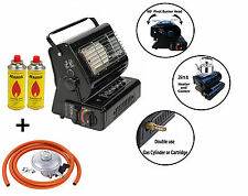 NEW 2in1  Portable Gas Heater and Cooker Camping Caravan Outdoor Fishing Home