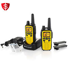 Midland Walkie Talkie 2 Way Radio Set Long Range Water Resistant Rechargeab