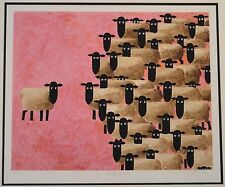 """""""SHEEP MEET"""" by TONI GOFFE Ltd Ed Giclee on Hahnemuhle Paper, matted w/COA"""