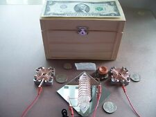 Orgone Manifest WISH MACHINE Wish Box w/t Generator Orgone Amplifier & Mini Wand
