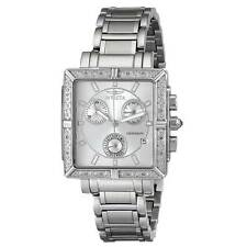 Invicta 5377 Women's Square Angel Diamond Steel Chronograph Watch