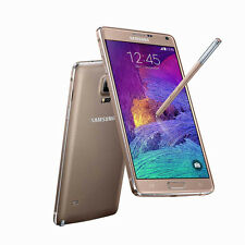 "Oro 5.7"" Samsung Galaxy Note4 N910T 32GB 4G 16MP Libre Telefono Movil Androide"