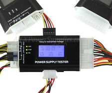LCD PC Power Supply Tester 20/24 pin 4 SATA HDD Testers
