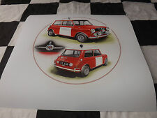BMC WORKS MINI COOPER S MONTE CARLO RALLY PADDY HOPKIRK 1964 NEW PAINTING PRINT