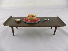 Vintage 1958 Mattel Mid Century Modern Furniture Coffee Table  MCM Barbie