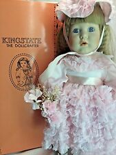 "Kingstate Dollcrafter Ms. Hollyhock 16"" Porcelain Bisque Handpainted Doll MIB"