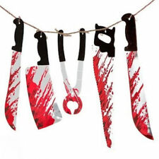 Halloween Bloody Weapons Garland prop decoration blood Tools Saw Knife Hanging