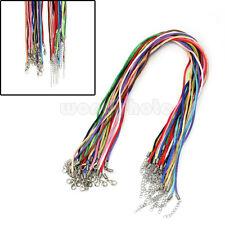25 x Colorido Cuerda de Algodón con Cierre Mosquetón para Hacer Collar DIY mo9t