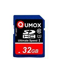 Qumox 32GB SD Clase 10 Tarjeta De Memoria Sdhc Marca Nuevo