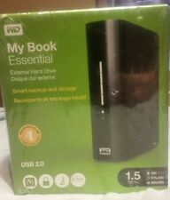NEW SEALED WD My Book Essential 1.5tb USB 2.0 External Hard Drive Storage Backup