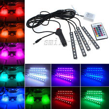 Full Color Interior Car LED Glow Kit Under Dash Foot Well Seats Inside Lighting