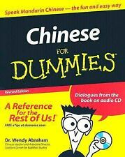 Chinese for Dummies W/Sealed CD Wendy Abraham 2005 Paperback Revised NEW