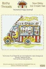 BOTHY THREADS SEW DINKY ICE CREAM VAN COUNTED CROSS STITCH KIT 15x20cm NEW 05/14