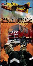 Serviette de plage, drap de bain, Pompier, Sauver ou périr, sécurité civile Neuf