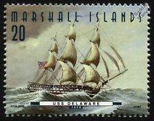 USS DELAWARE (1828) 74-Gun Ship of the Line US Navy Warship Stamp (1997)
