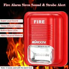 KMOON Fire Alarm Siren Sound & Strobe Alert Horn Security Safety System New O5I8