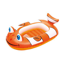 INFLATABLE LITTLE BUDDY CLOWN FISH BOAT FLOAT POOL TOYS LILO SWIMMING BW34089