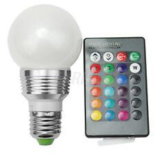 3W E27 RGB LED Lampadina Faretto Lampada 16 Colori Luce + Telecomando Bar Luoghi