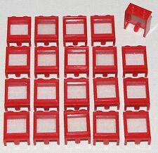 LEGO LOT OF 20 RED 1 X 2 X 2 TRAIN WINDOWS PIECES