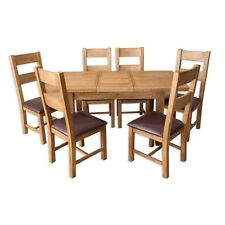 Dining Table Extendable Oak Country Living & 6 Dining Chairs