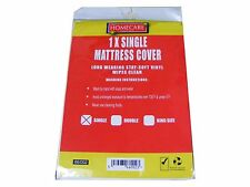 NEW SINGLE BED WETTING VINYL PLASTIC FITTED MATTRESS COVER SHEET PROTECTOR kids
