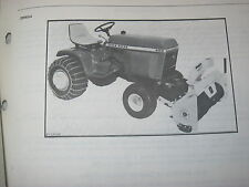 ORIGINAL JOHN DEERE 50 LAWN TRACTOR SNOW THROWER PARTS CATALOG MANUAL