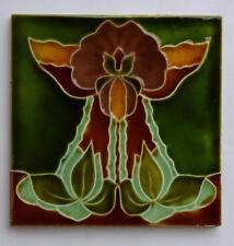 Antique Art Nouveau Tile by Henry Richards c1905