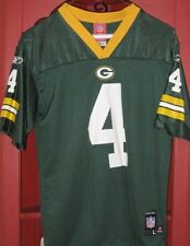 Reebok Green Bay Packers Jersey #4 Brett Farve Youth Large 14-16  FREE SHIPPING