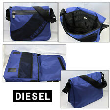 DIESEL MEN'S DIAGONAL BLUE MESSENGER BAG 00XL45 PR669 T6009