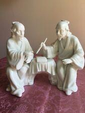 Rosenthal Netter Hi Glaze PorcelainJapanese Men Figurine Mid Century -Excellent