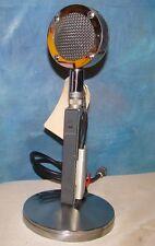 Vtg ASTATIC MIC LAB D104 Lollipop CB/Ham Radio Microphone w/EV 423A Stand J00450