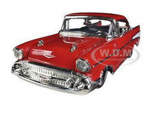 1957 CHEVROLET BEL AIR RED 1/24 DIECAST MODEL CAR BY JADA 90434