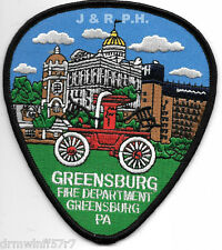 """Greensburg, PA  (4"""" x 4.5"""" size) fire patch"""