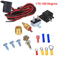 """Electric Radiator Engine Fan Thermostat Temperature Switch Relay Kit 3/8"""" Thread"""